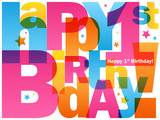 HAPPY 1st BIRTHDAY Card - 190090820