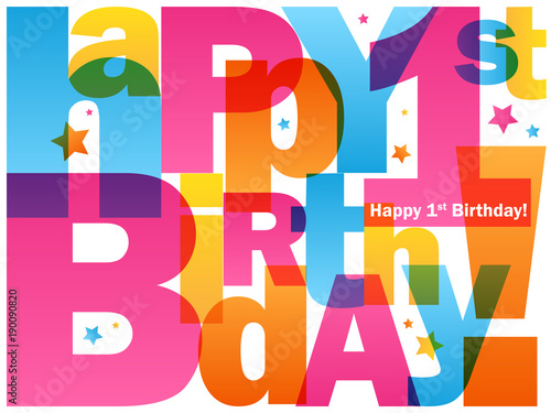 Happy 1st Birthday Card Buy Photos Ap Images Detailview
