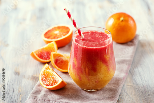 Keuken foto achterwand Sap Colorful smoothie, healthy detox with blood oranges