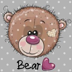 Cute Cartoon Teddy Bear head