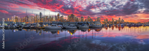 Aluminium Canada Coal Harbor at Sunset