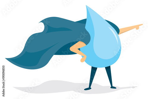 Water super hero with cape