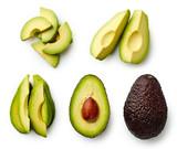 Whole and sliced avocado - 190098480