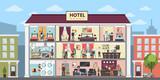 Hotel interior building. - 190114433