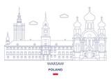 Warsaw City Skyline, Poland