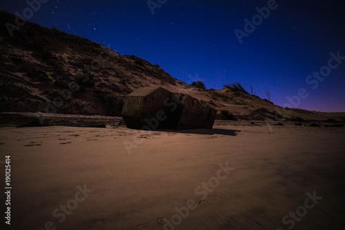 Fotobehang Diepbruine photo nuit dune du pilat janvier 2018