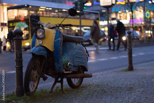 Fotobehang Scooter motorbike