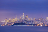 Night view of San Francisco across the bay