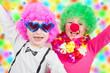 Quadro little happy children with carnival mask