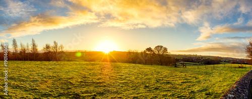 Aluminium Honing panoramic view of winter countryside morning,Northern Ireland