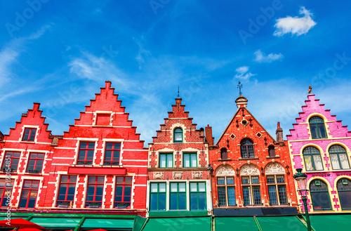 Fotobehang Brugge Grote Markt square in Brugge