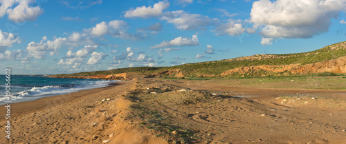 Foto op Canvas Cyprus Beautiful panoramic view of the Toxeftra Beach or Turtle Beach, Akamas Peninsula, Cyprus