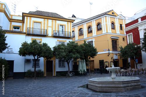 Springbrunnen auf der Plaza de la Alianza