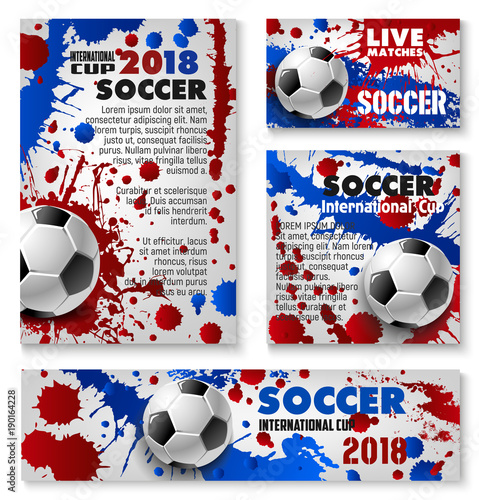 Vector football cup soccer team background posters