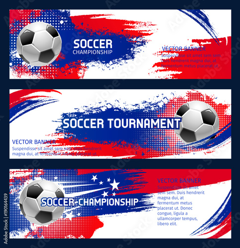 Vector soccer match championship banners