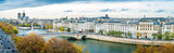 Panorama of Notre-dame-de-Paris and Seine river in autumn - 190165416