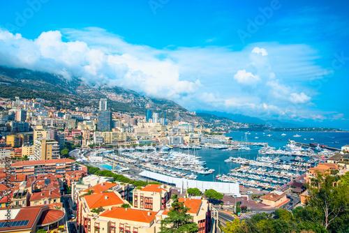 Aluminium Panoramic view of Monte Carlo, Monaco