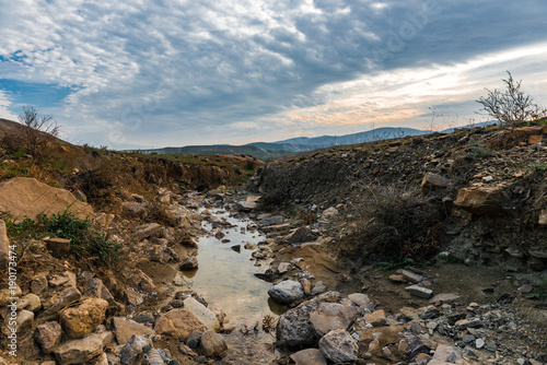Fotobehang Bergrivier Stream of mountain river