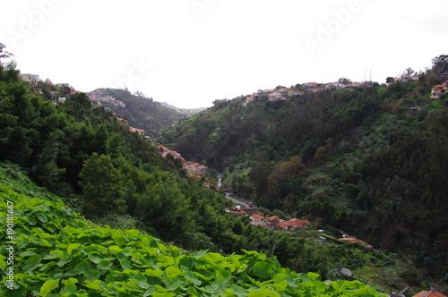Aluminium Grijze traf. Mountain landscapes in Madeira