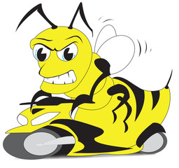 Bee on a scooter