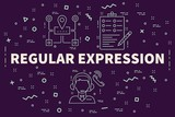 Conceptual business illustration with the words regular expression - 190193445