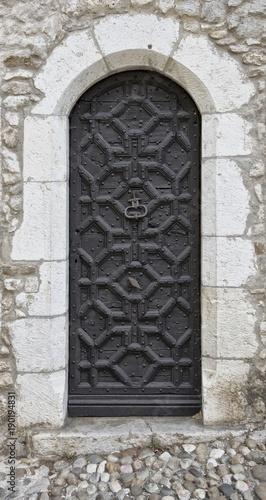 Porte à Pérouges, Ain, France