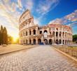 The Coliseum or Flavian Amphitheatre (Amphitheatrum Flavium or Colosseo), Rome, Italy.