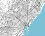 Black and white vector city map of Barcelona with well organized separated layers. - 190205880