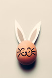 Bunny egg with long ears and whiskers. - 190206270