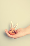 Little Easter bunny made from an egg - 190206628