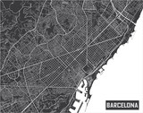 Minimalistic Barcelona city map poster design. - 190207011