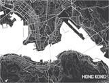 Minimalistic Hong Kong city map poster design. - 190209496