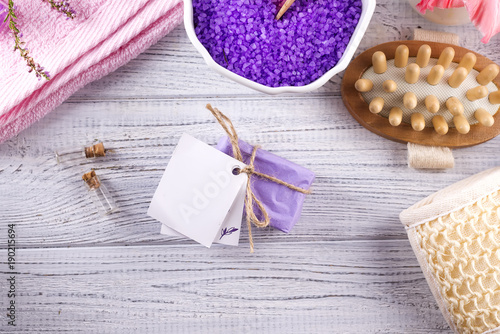 Keuken foto achterwand Spa Various spa and beauty threatment products