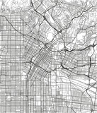 Black and white vector city map of Los Angeles with well organized separated layers. - 190216440