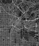 Black and white vector city map of Los Angeles with well organized separated layers. - 190216479