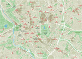 Vector city map of Madrid with well organized separated layers. - 190216851