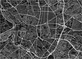 Black and white vector city map of Madrid with well organized separated layers. - 190217056
