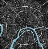 Black and white vector city map of Moscow with well organized separated layers. - 190217846