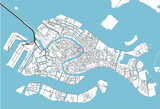 Black and white vector city map of Venice with well organized separated layers. - 190226480