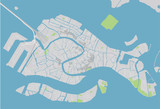Vector city map of Venice with well organized separated layers. - 190227006