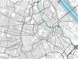 Black and white vector city map of Vienna with well organized separated layers. - 190227262