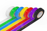Different Colored Adhesive Insulating Tape. 3d Rendering - 190228870