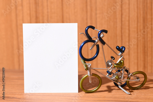 Fotobehang Fiets Bicycle models and text areas