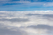 clouds in the sky from airplane window - 190240044