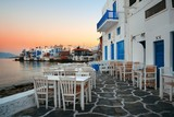 Mykonos Little Venice sunset - 190243205