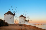 Mykonos windmill sunset - 190243210