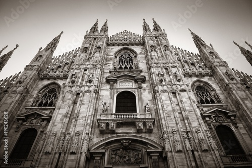 Foto op Canvas Milan Milan Cathedral closeup