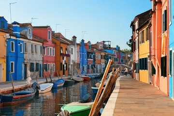 Colorful Burano canal