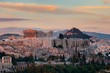 Athens skyline sunrise