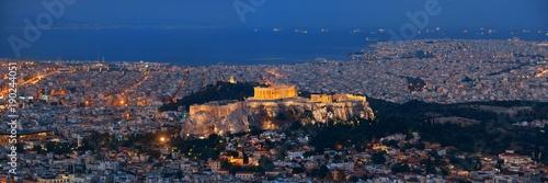 Deurstickers Athene Athens skyline from Mt Lykavitos panorama